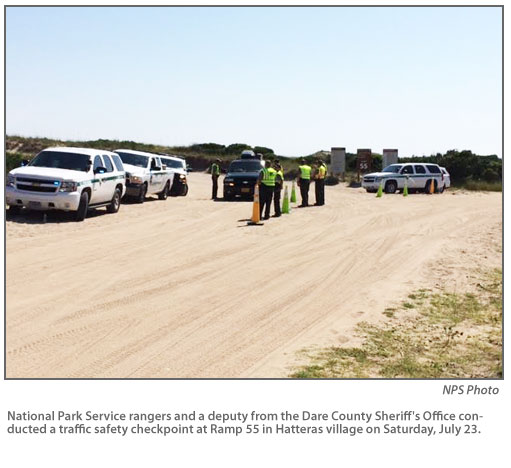 Hatteras Island: NPS Conducts Two Traffic Checkpoints At Hatteras Island