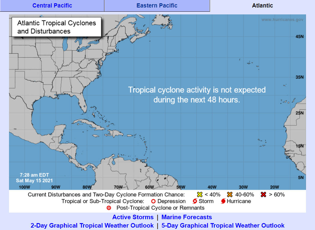 Tropical Weather Outlook begins for the 2021 hurricane season on May 15 - Island Free Press