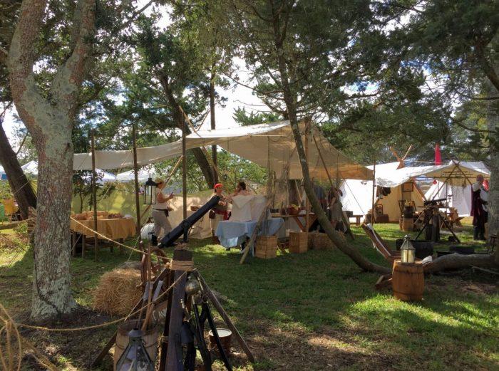 Living-history-encampment